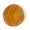 Glass Pressed Beads 8mm Flat Round Brown Stripe